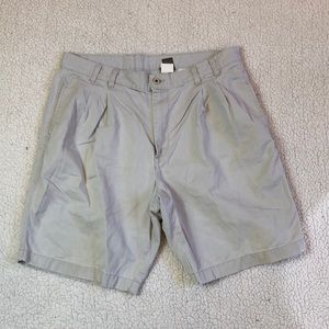 Calvin Klein pleated front khaki shorts